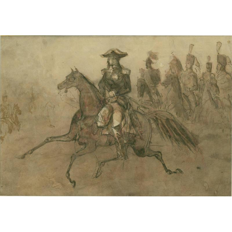 Cavalry Officer with Retinue