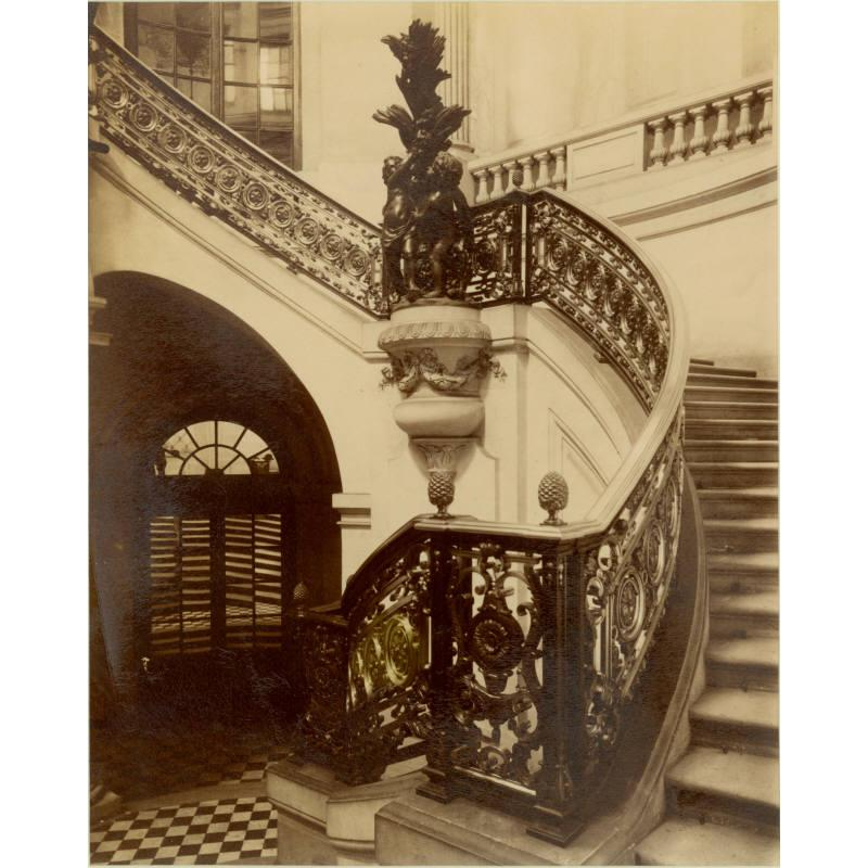 Untitled (Staircase Inside the Palais Royal), ca. 1900